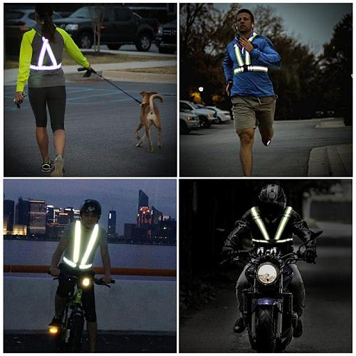 New High Elastic Traffic Night Work Security Running Cycling Safety Reflective Vest High Visibility Reflective Safety Vest TSLM1
