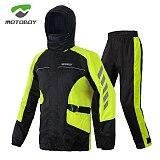 Motoboy motorcycle riding raincoat rain pants set split single reflective rider equipment portable rain gear man
