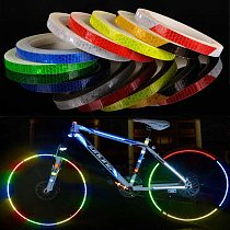 1cm*8m Bike Stickers Reflective Tape Fluorescent MTB Bike Bicycle Strips Cycling MTB Tape for Helmet Motorcycle Scooter