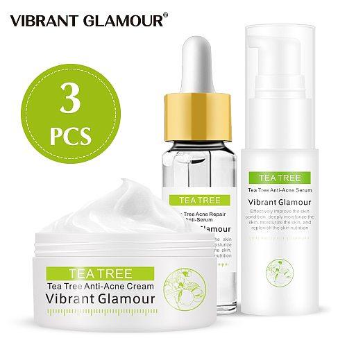 Tea Tree acne Repair face serum face cream set Remove Scar Treatment serum Acne print essence cream skin care  VIBRANT GLAMOUR