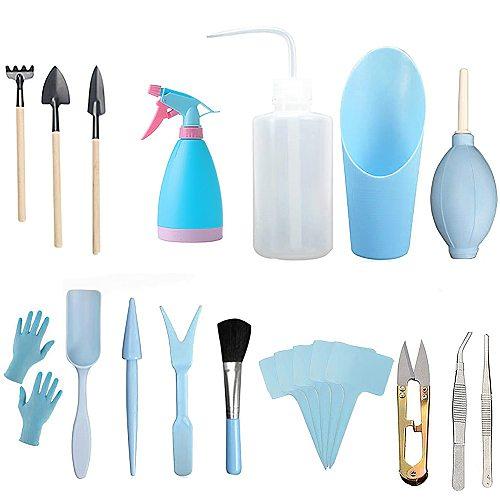 21pcs Succulent Transplanting Tools Spade Combination Of Flower Packaging Mini Gardening Supplies Hand Tool Kit
