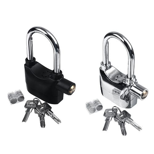 Long/Short Universal Bike Motorcycle Home Garage Black Alarm Lock Sensor Anti Theft Security Secure Padlock 110db with Keys