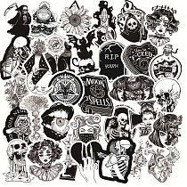 10/30/50Pcs Black White Gothic Style Girl and Skull Graffiti Stickers to DIY Laptop Luggage Guitar Skateboard Car Decal Kids Toy