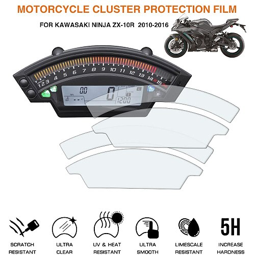 For Kawasaki Ninja ZX-10R  ZX10R 2010 2011 2012 2013 2014 2015 2016 Motorcycle Cluster Scratch Protection Film Screen Protector
