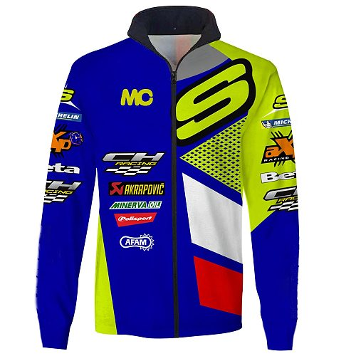 New motorcycle jackets Motocross Off Road motorcycle Racing Team Jacket Tracksuit Outerwear Zipper Closure Keep warm 2 pockets