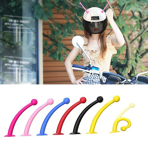 2Pcs Motorcycle Helmet Silicone Suction Cup Tentacles Decorative Accessories Antenna Sucker Bee Snail Tentacles Horns Dropship