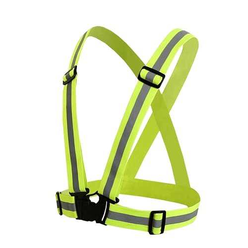 High Visibility Neon Reflective Belt Safety Vest Fit For Running Cycling Sports 1XCF
