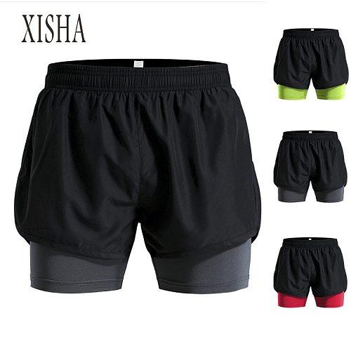 High Quality 2020 Running Shorts Men 2 IN 1 Sport Gym Shorts Fitness Workout Short Pants Tennis Football Basketball Shorts Men