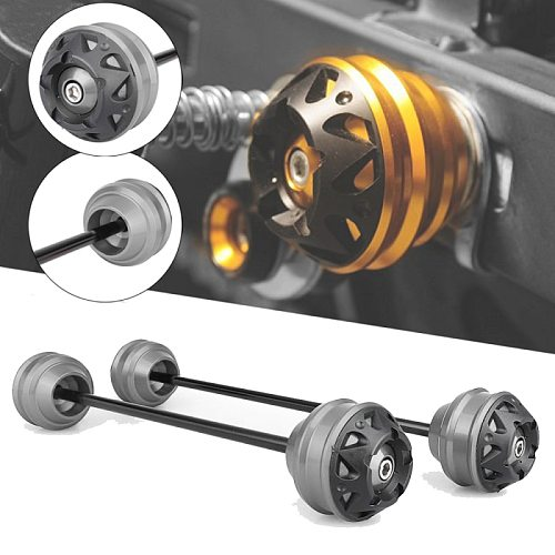 MTKRACING Axle Sliders Fork Wheel Protection Crash Pad Kit For TRIUMPH StreetTriple Street Triple 660 675 765 S/R/RS/RX 2020