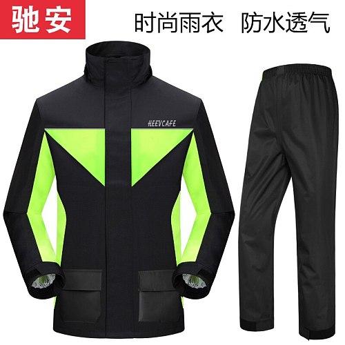 Motorcycle Raincoat Rain Coat Sets Pants Suit Fashion Outdoor Raincoat with Pants Waterproof Rider Rainsuit LZG149