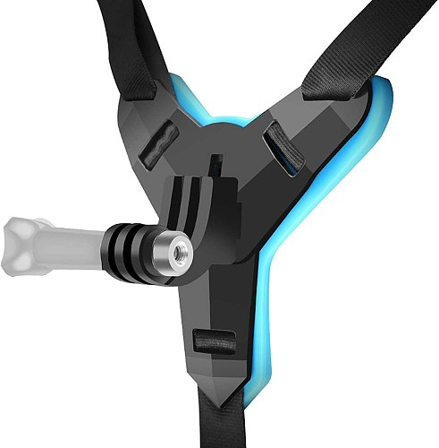 Bicycle Motorcycle Helmet Chin Mount Strap for GoPro Hero 8 7 6 5 or Other Action Camera for VLOG/POV Shoot Accessory