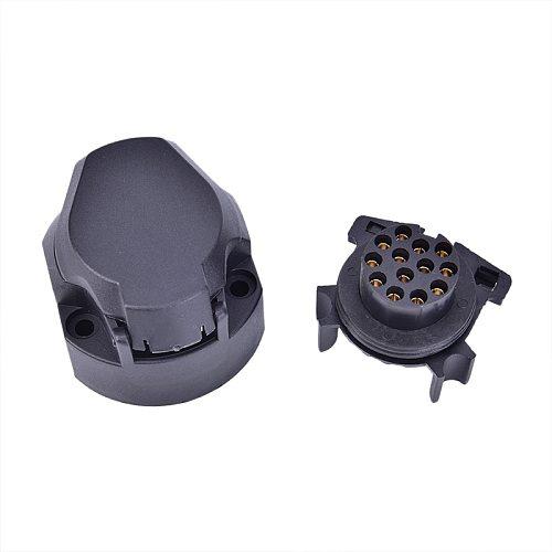 12V Plastic Trailer Socket Boat Trailer Accessories- 7 Pin way core pole Caravan Connector adapter RV Accessories