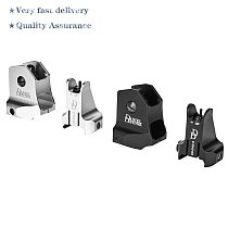 Tactical CNC DD fixed front and rear iron sight combination for hunting Airsoft AR15 Riflescope sight