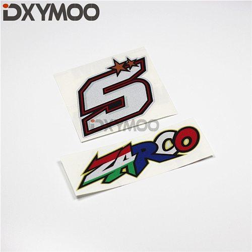 Car Stickers Motorcycle Helmet Auto Window Phone Vinyl Decals for Italy Motor Sports 5 ZARCO