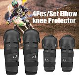 4pcs Motorcycle Knee Protector Bicycle Kneeling Cycling Bike Racing Tactical Skate Protective Knee Pads and Guard Elbow Pad