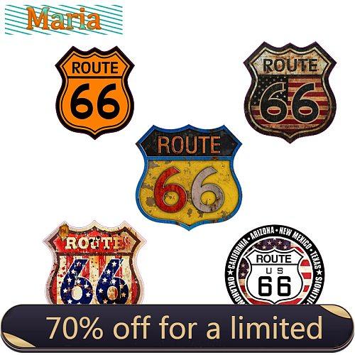 USA Route 66 Car Sticker Sign Bumper Motorcycle Helmet decal Vinyl JDM RV A4 Q3 Auto decoration waterproof PVC