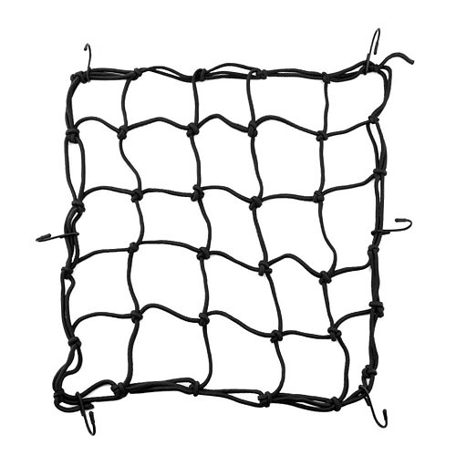 6 Hooks Motorbike Motorcycle Cargo Luggage Net Hold Down Net Bungee Cord 40*40cm Motorcycle ATV Cargo net Seat Back Rack