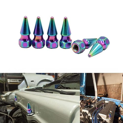 Spikes Tuner M6X1.0 Spikes Bolt Spiked Valve Cover Engine Bay Baby Spike Dress Up Washer Kit for Honda Engine H23A1