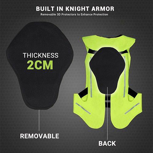 NEW Reflective Jacket Motorcycle Air Bag Vest Reflective Jacket Safety Vest Airbag Moto Motocross Protective Reflective Clothing