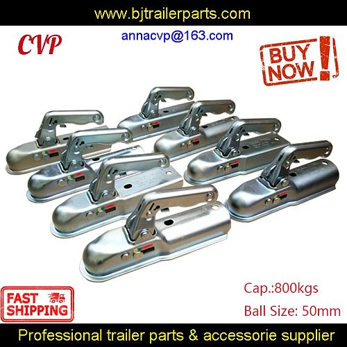 E24 Approved European Sty Pressed Steel Trailer Hitch Coupling 50mm 60mm Draw Bar 800kg RV Parts Camper Caravan Accessories