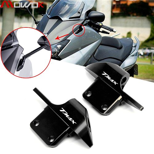 For YAMAHA Tmax 530 tmax530 sx dx 2015-2018 2019 Aluminum Mirror Hole Cap Cover Mirror Modified parts with T-MAX LOGO