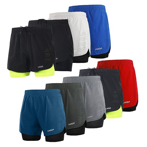Lixada Running Shorts sport short Quick Drying Breathable Active Training Exercise Jogging Bike Cycling Shorts with Longer Liner