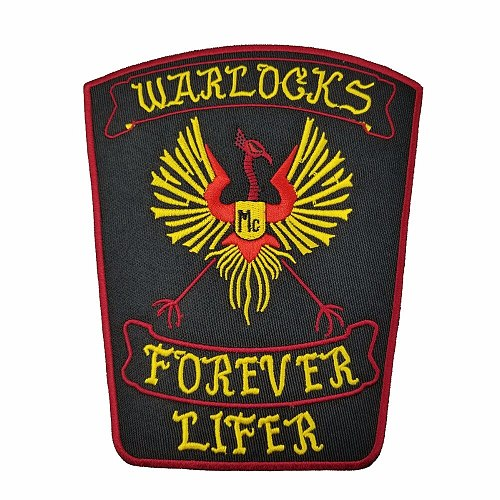 NEW ARRIVAL WARLOCKS Motorcycle Patch 1% Biker Rider Vest MC Embroidered Iron On Back of Jacket Patch DIY G0434 Free Shipping
