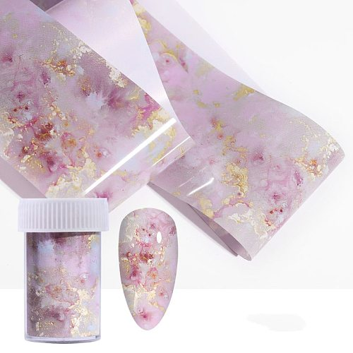 7 Style nail Stickers Nail Decals Marble Series Nail Foil Nail Art Transfer Stickers Decoration Nail Art Polish Sticker Manicure
