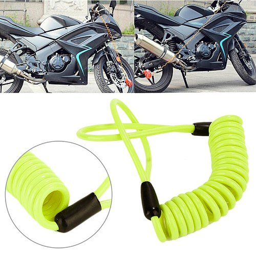 150cm Alarm Disc Lock Security Anti Thief Motorcycle Accessories Reminder Spring Cable Security Tool Theft Protection Auto Parts