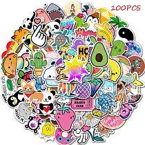 50/100 PCS Cartoon Simple VSCO Girls Kawaii Stickers For Chidren Toy Waterproof Sticker to DIY Laptop Bicycle Helmet Car Decals