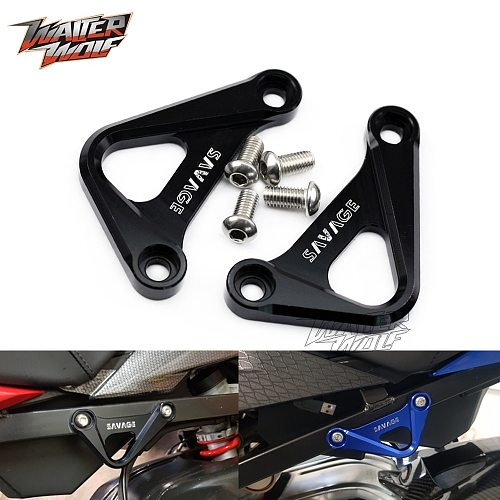 Rear Footrest Blanking Plates For BMW S1000RR HP4 S1000R S-1000 RR 1000R 1000RR HP Motorcycle Racing Hook CNC Foot Rest Delete