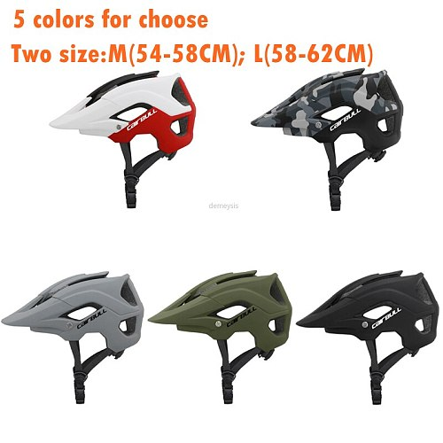 Integrally-molded Cycling Helmet Breathable Mountain Bike Riding Helmets Ultralight Outdoor Motorcycling Bicycle Safety Helmet
