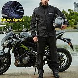 Motorcycle Rider Waterproof Raincoat Rain Suit Jacket and Pants for Men Rain Gear with Reflective Strip Scooter Accessories