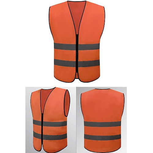 1pc Neon Security Safety Vest High Visibility Reflective Stripes Orange Yellow High Quality Safty Goods New Arrival