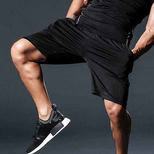 Running Shorts Men Training Marathon Sweatpants Dry Fit Fitness Gym Printing Sport Shorts With Pocket Plus Running Shorts Jogger