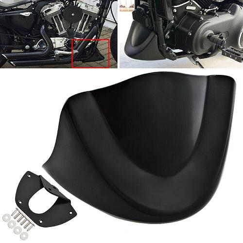 Matte Black Front Spoiler Lower Chin Fairing Reliable Engine Cover for FXDL FXD FXDB 06-17
