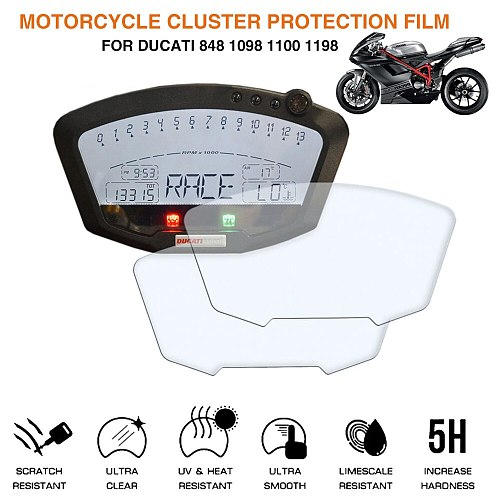 Motorcycle Cluster Scratch Protection Film Screen Protector For Ducati 848 1098 1100 1198