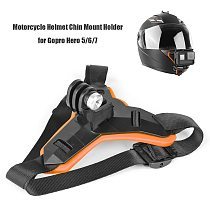 Motorcycle Helmet Chin Strap Mount for GoPro Hero Xiaomi Yi OSMO Adjustable Action Sports Camera Full Face Holder Accessory