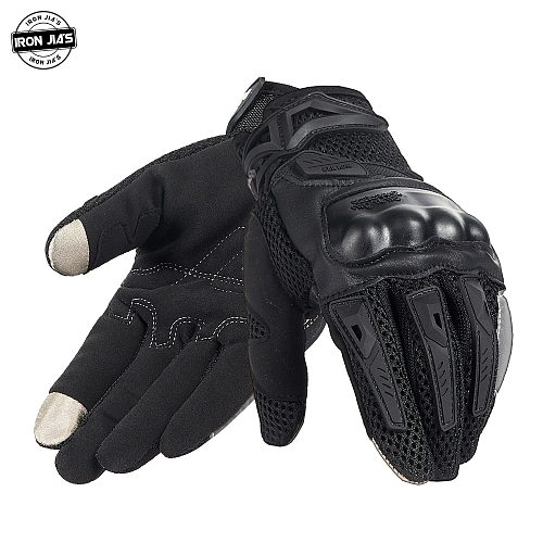 IRON JIA'S Summer Motorcycle Gloves Men Touch Screen Breathable Motobike Riding Moto Protective Gear Motorbike Motocross Gloves