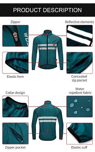 WOSAWE Breathable Reflective Running Jacket Water Resistant Windproof Waistcoat Windbreaker High Visibility Thin Sports Jacket