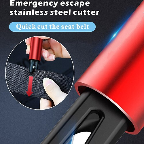 Mini Safety Hammer Window Glass Breaker Life-Saving Escape Emergency Tool Auto Seat Belt Cutter Knife