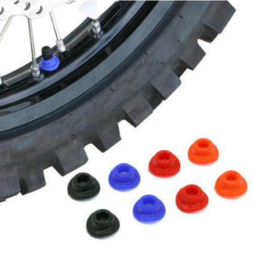 10 Pieces Dirt Bike ATV UTV Air Valve Stem Mud Guards Tire Tube Caps Silicone Silicone Rubber