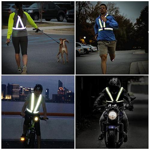 Reflective Safety Vest Strap Elastic Webbing Bike Safe Reflective Safety Vest Motor High Visibility Reflective Safety Jacket