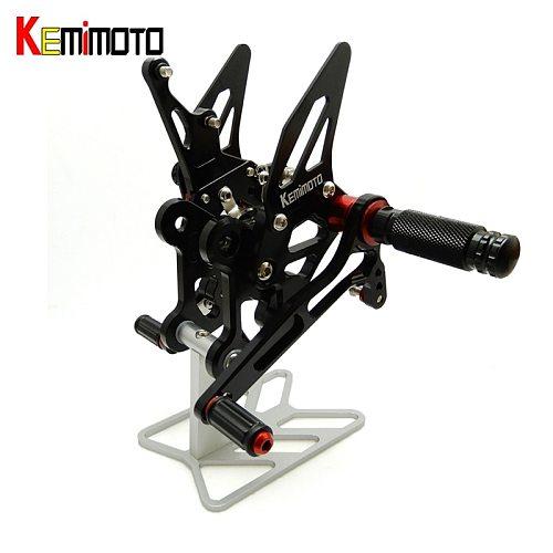 KEMiMOTO GSXS 750 GSR750 Accessories CNC Adjustable Rear Set Rearsets Footrest For Suzuki GSX-S750 2015-2016 GSR-750 2011-2014