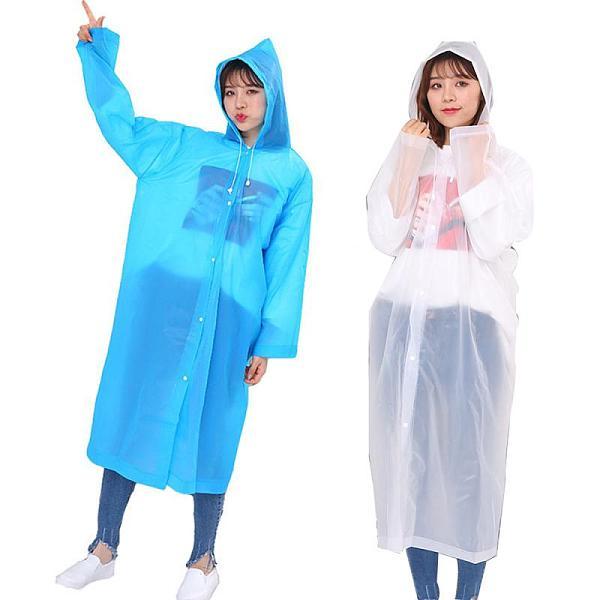 Rider Raincoat Adult Raincoat Transparent Waterproof Plastic Reusable Rain Poncho Hood Outdoor Cycling Motorcycles Accessories