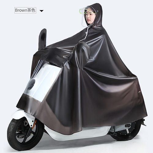Black Overall Bike Waterproof Scooter Raincoat Jacket Survival Outdoors Vinyl Raincoat Portable Regenjacke Rider Rainsuit JJ14