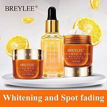BREYLEE Vitamin C Whitening Set Face Cream Face Serum Mask Fade Freckles Spots Melanin Eye Cream Remove Dark Circles Skin Care