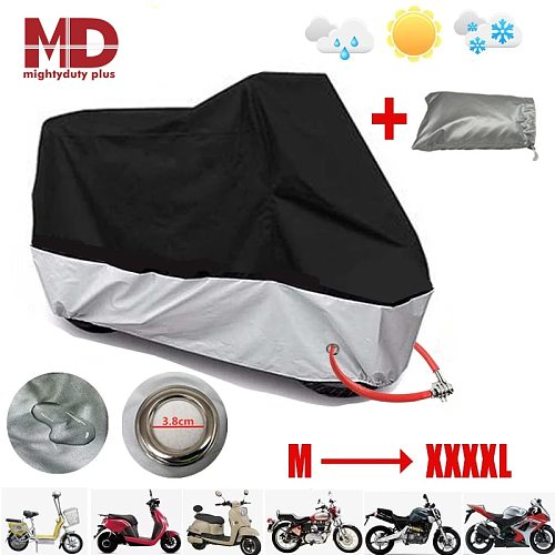 Motorcycle Cover Waterproof Outdoor Indoor 4XL Universal Dustproof Sun UV Protection Summer Bicycle Moto Scooter Rain Coat 190t