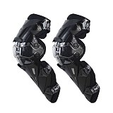 New 4pc/s Motorcycle Knee & Elbow Protective Pads Motocross Skating Knee Protectors Riding Protective Gears Pads Protectio Black