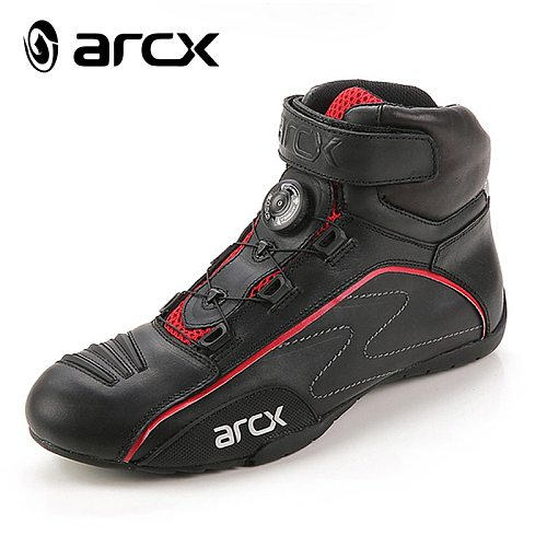 ARCX new motorcycle leather shoes waterproof racing boot motocross breathable good quality shoes free shipping